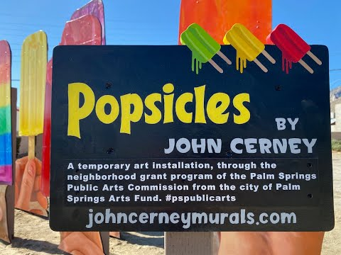 POPSICLES - Giant Outdoor Mural by John Cerney   Palm Springs Art Installation