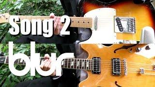 Song 2 - Blur ( Guitar Tab Tutorial & Cover )