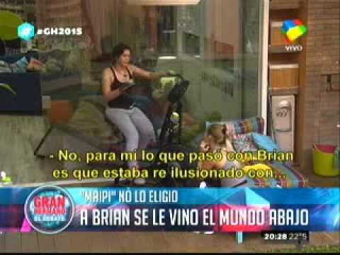 Gran Hermano 2015: La depresión de Brian ante el romance de María Paz y Nicolás