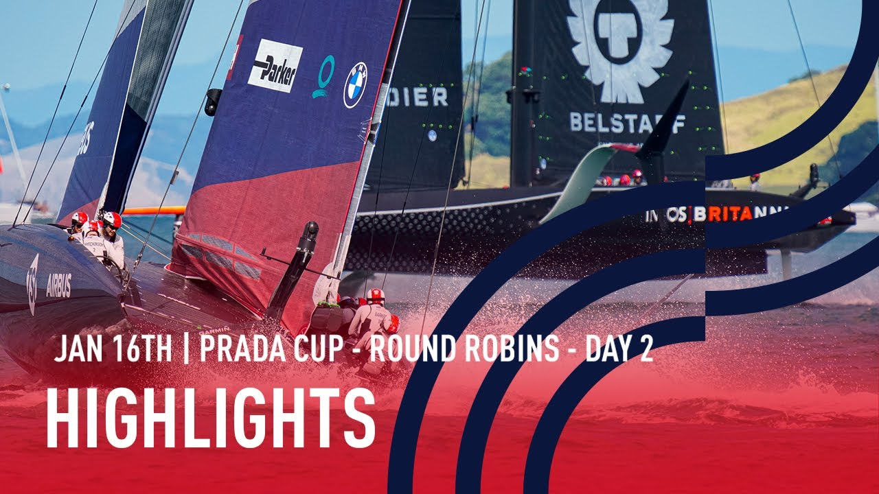 PRADA Cup Day 2 Highlights