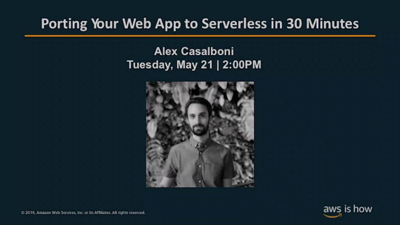 Porting your web app to serverless in 30 minutes