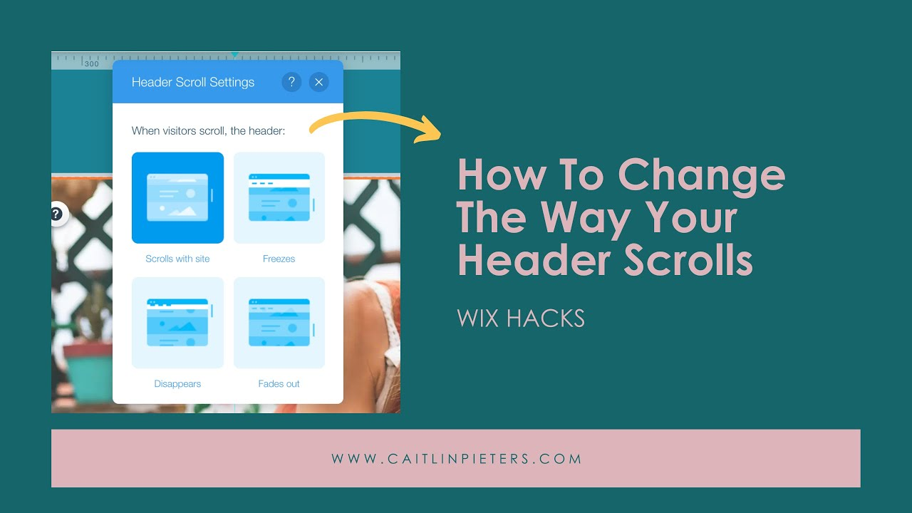 How to change the way your Header scrolls