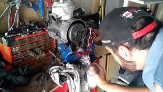 restauration #2 XP6 replica ktm  l'avancer du moteur ( am6 )