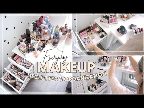 Makeup Declutter & Organize With Me! - YouTube