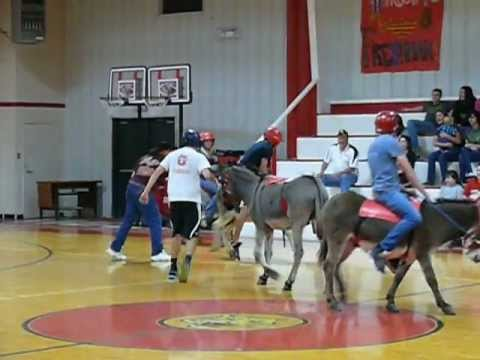 Donkey Basketball Oglesby School Gym, Oglesby, TX 2-12-2013