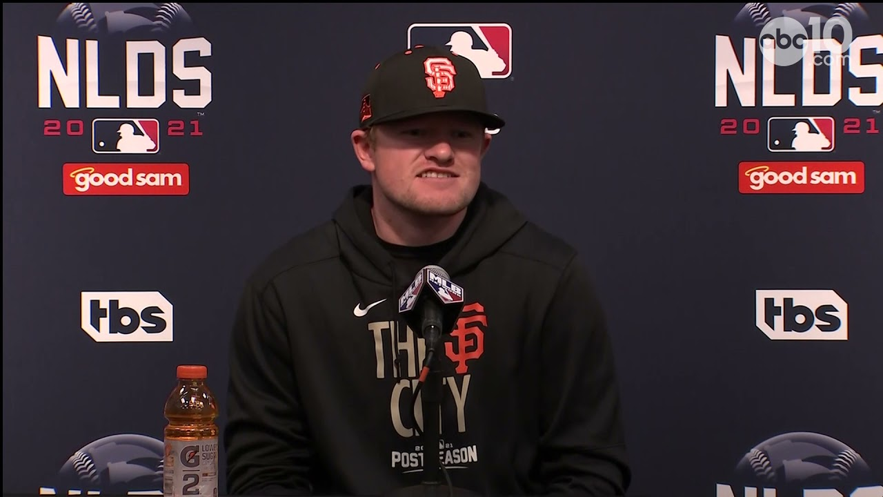 San Francisco Giants' Game 5 starter Logan Webb drinks a ...