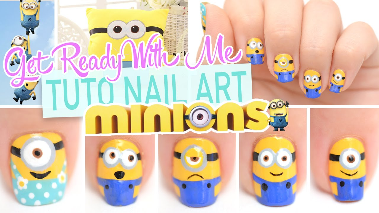 - Get Ready With Me ♡ Nail Art Minions - YouTube