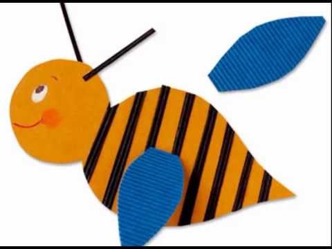 Manualidades para ni os abeja de cartulina youtube - Manualidades para ninos faciles ...