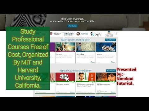Study Professional Courses Free of Cost Offered By MIT | Harvard University