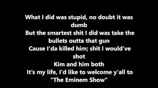 cleanin out my closet - EMINEM lyrics