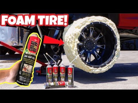 MAKING A TIRE ONLY USING FOAM INSULATION SPRAY! WILL IT WORK?