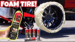 making-a-tire-only-using-foam-insulation-spray-will-it-work
