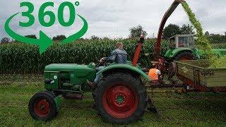 360° Video: Historischer Feldtag Nordhorn [Oldtimer Traktoren in 4K + Sound]
