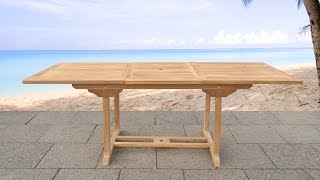 Beliani Garden Table Acacia Wood - Rectangular Table, Extendable - Java - Eng