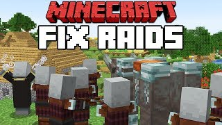 Minecraft 1.14 How To Fix Raids