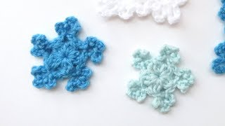 In this video I show you how to crochet another one of my mini snowflakes. I hope you enjoy! Written version: ...