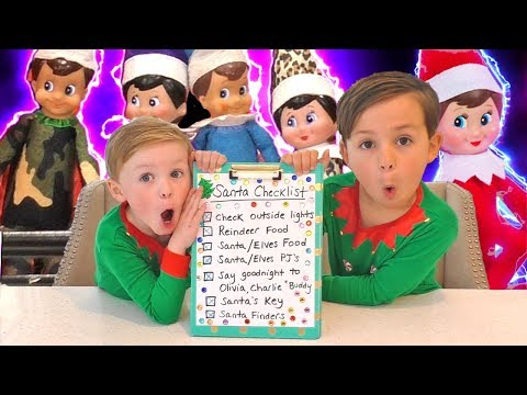 Elf on the Shelf Night Before Christmas Checklist for Santa | DavidsTV