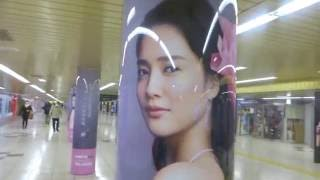 "〈movie〉Billboard TOKYO, JAPAN - Shinjyuku Station ""Metro Promenad..."