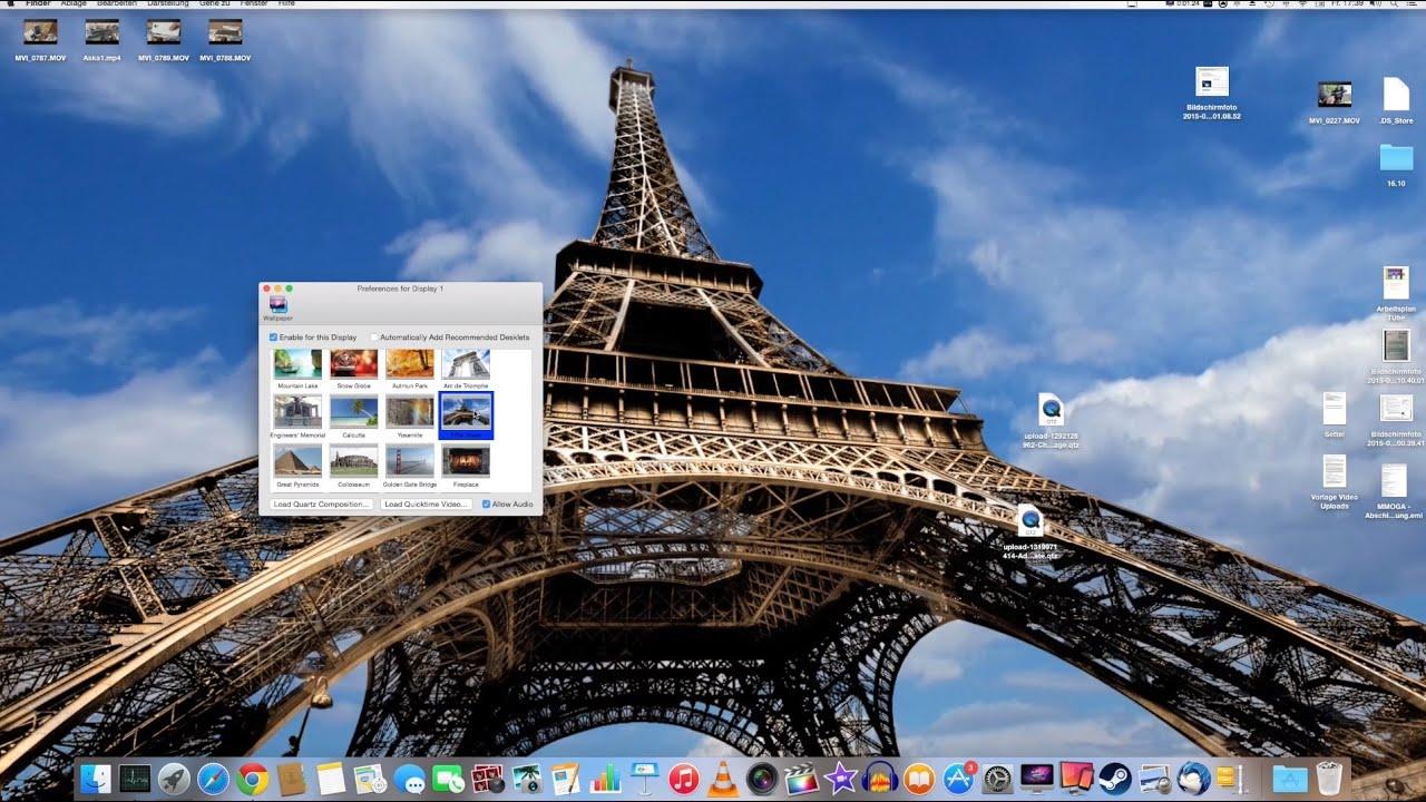 video wallpaper desktop video hintergrund mac os x tutorial theaskarum