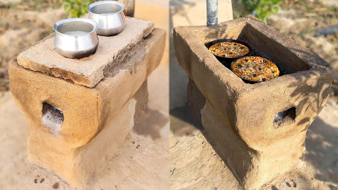 Multi Purpose Mud Stove   Creative Ideas with Mud   Mubashir Saddique   Village Food Secrets