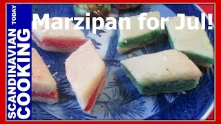 Marzipan Candy For Jul - An Old Fashion & Easy Christmas Candy Recipe - Petit Fours