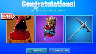 "New FREE Christmas Skins & Rewards! How to Unlock FREE ""Merry Munchkin"" Back Bling in Fortnite!"