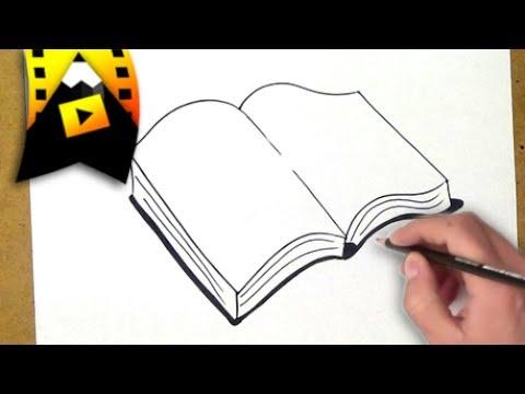 como dibujar un libro como desenhar um livro