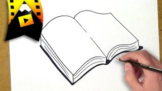 como dibujar un libro | como desenhar um livro