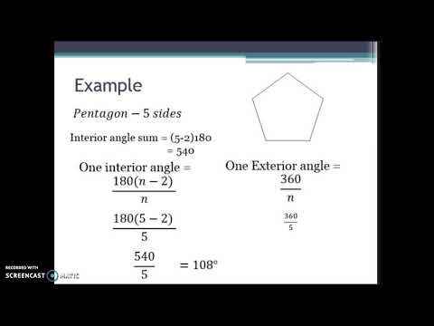 7.1 Interior/Exterior Angles of Polygons