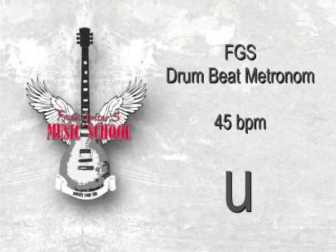 Metronome Drum Beat - 4/4 - 45bpm ( beats per minute )
