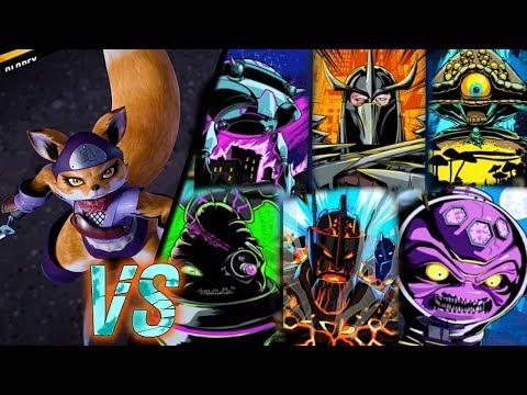 Teenage Mutant Ninja Turtles Legends - Alopex SOLO challenge VS BOSSES.  [TMNT LEGENDS UPDATE X]