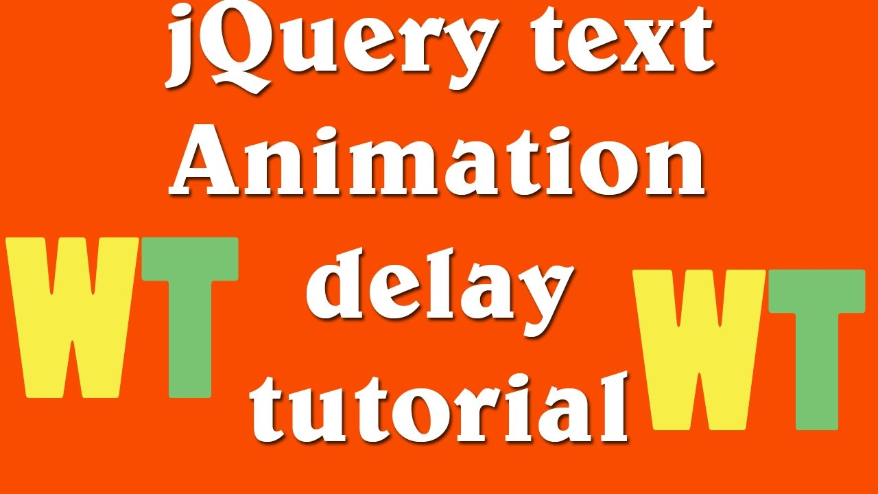 jQuery text animation delay tutorial hindi and urdu