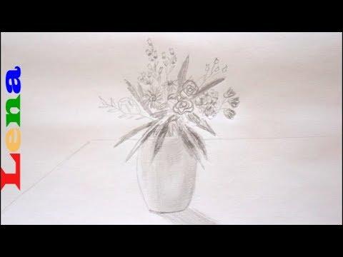 Vase Zeichnen Blumen Malen How To Draw A Vase With Flowers как