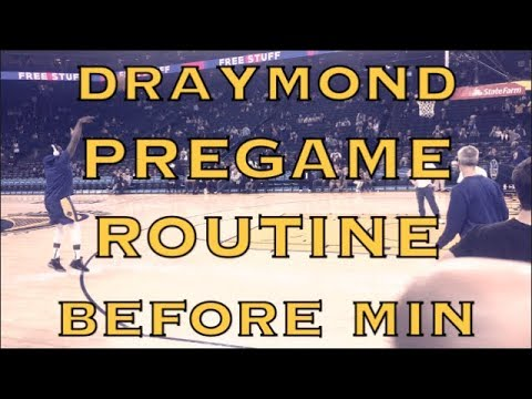 Draymond Green pregame routine before Warriors (18-9) vs Minnesota Timberwolves at Oracle Arena