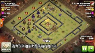Tips Clash Of Clans TH 10: meratakan (3 star) base war type 15 menggunakan trops VaHealWiz