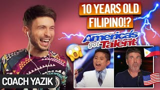 Download YAZIK reacts to ALL BY MYSELF - Peter Rosalita | America's Got Talent