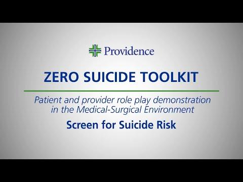 Zero Suicide Toolkit: Med.Surg.1 - Screening