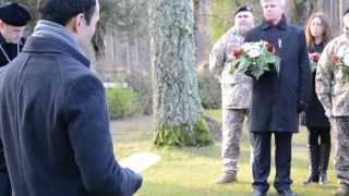 Sarkano Magoņu diena- Nikolaja kapos Jelgavā 10.11.2013