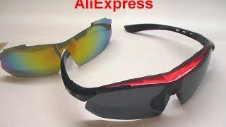 полный обзор спортивные очки с АлиЭкспресс full review Polarized Cycling Glasses Bike
