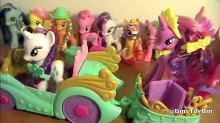 My Little Pony Princess Celebration Cars Review! Twilight Sparkle, Rarity & Spike! by Bins Toy Bin