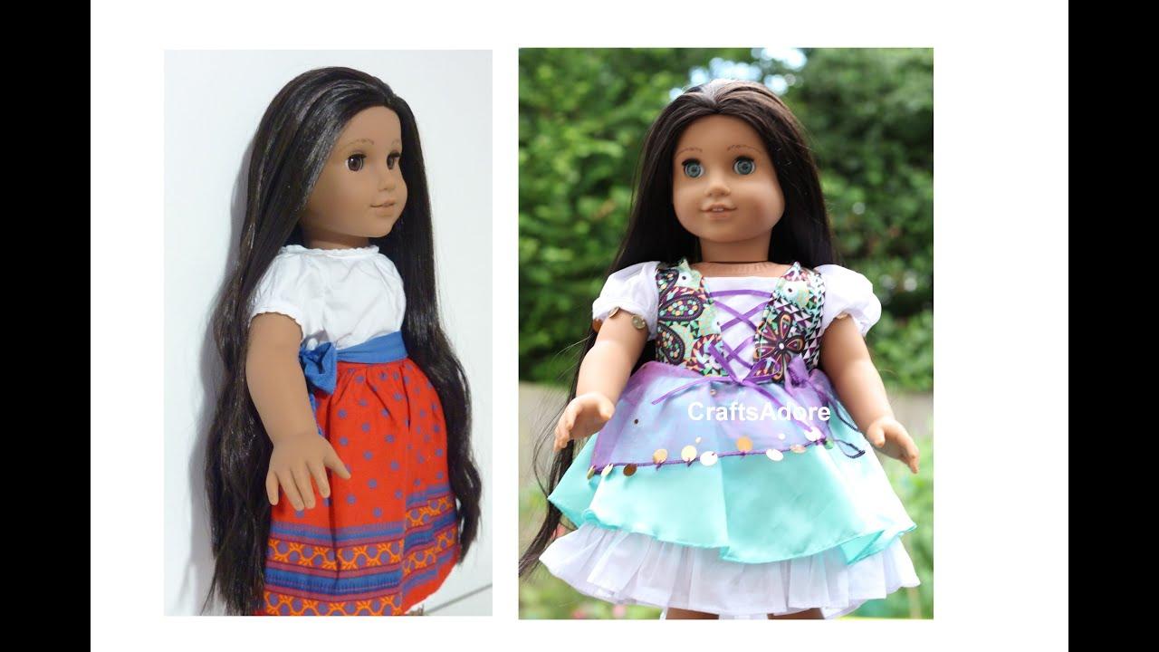 american girl doll makeover josefina as esmeralda 39 disney princess 39 hd please watch in hd. Black Bedroom Furniture Sets. Home Design Ideas