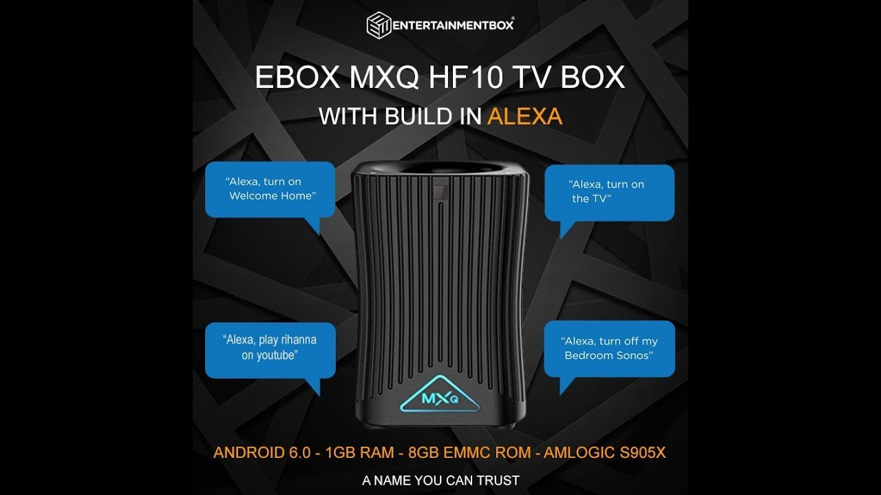 NEW MXQ HF10 Alexa Smart Speaker TV Box like Amazon echo and Amazon Dot   Kodi, Apps and more