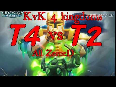 Lord Mobile KvK 4 Kindoms Super Trap T4 VS T1