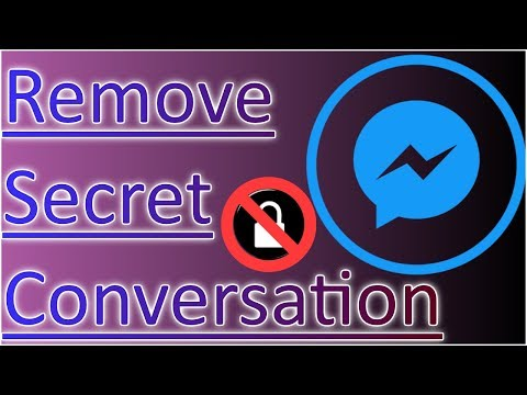 How To Delete Remove Secret Conversation In Messenger