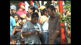 Tres personas fueron asesinadas en el parque central de Sanarate, El Progreso
