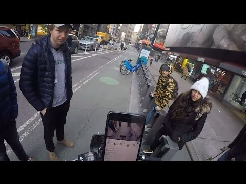 Ice Poseidon explores NYC on a bike, PART1 [VOD: 13-03-2017]