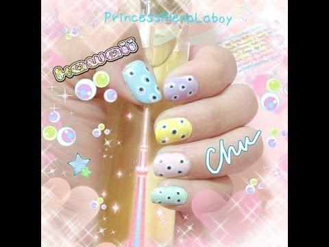 Harajuku Kawaii Eye Nail Art Tutorial thumbnail