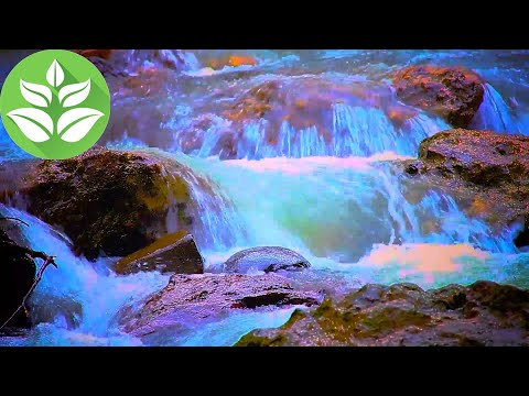 Evening. Waterfalls Cascade [10 hours] Waterfall sounds (White noise for sleep)