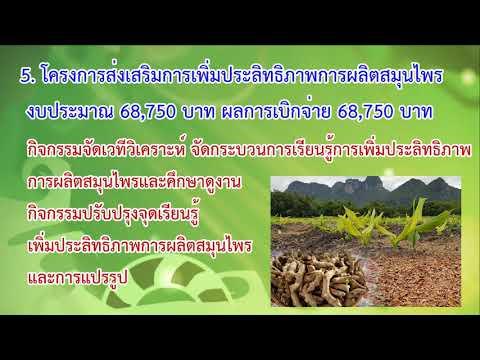 ผลการดำเนินงานโครงการส่งเสริมการเกษตร ปี 2564