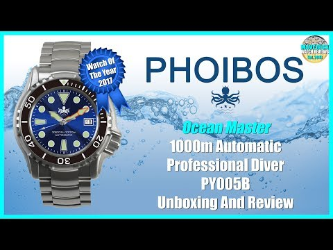 WOTY 2017! | Phoibos Ocean Master 1000m Chinese Automatic Microbrand Unbox & Review | Maverick
